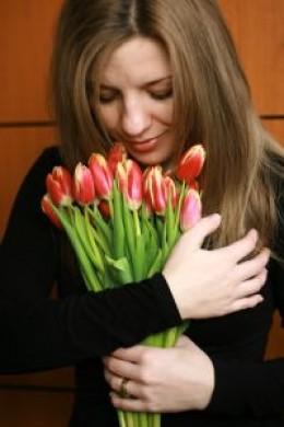 Women loves romantic tulip flower gift
