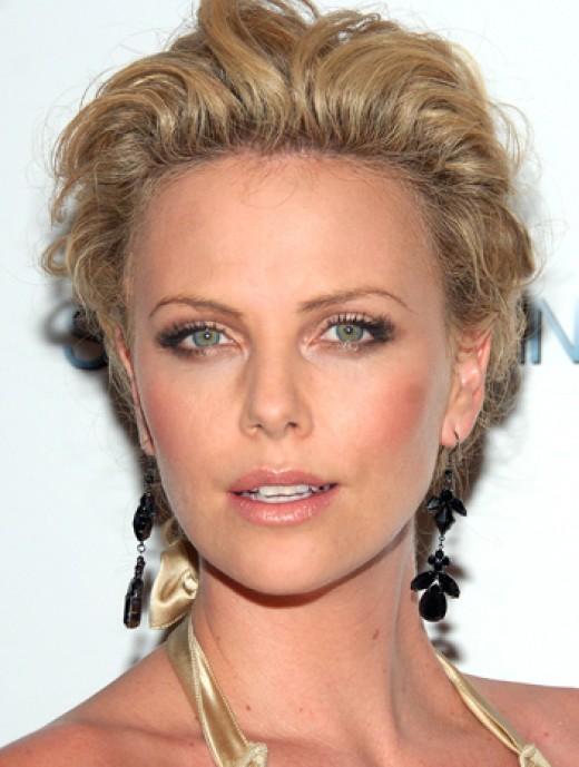 Elegant celebrity makeup charlize theron