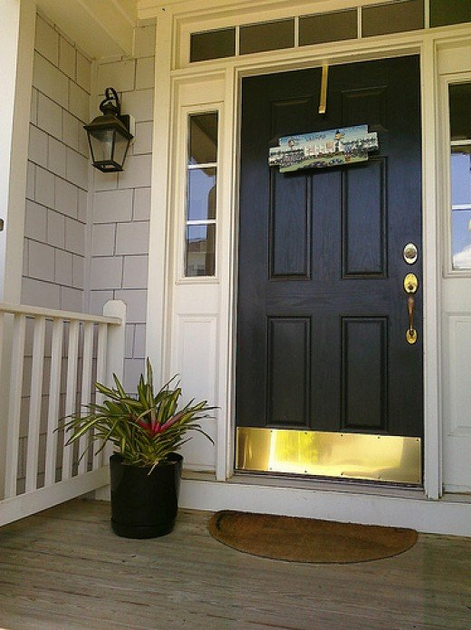 Popular colors to paint an entry door Installing Decorating Windows