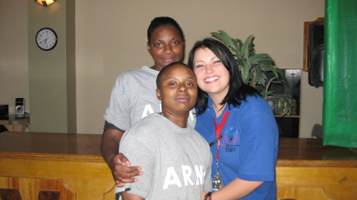 Me and two of my fav girls from our time in Iraq!