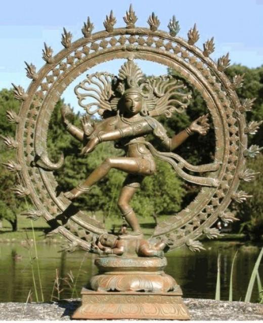 Shiva como Nataraja, el bailarín cósmico.