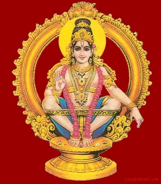 Ayyappa, también conocido como Hariharaputra.  Un Dios muy famoso de la adoración en el sur de la India.