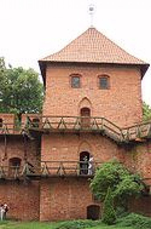 The tower in Frombork where Copernicus worked and lived.