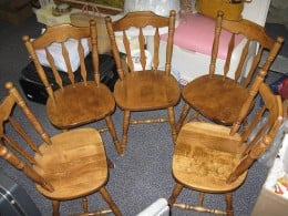 Several quality wooden chairs.