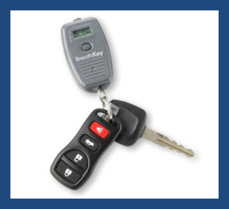 Keychain or Keyring Alcohol Tester