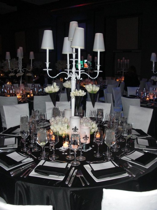 nonfloral reception centerpieces candelabra inquire on renting