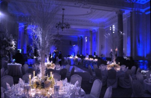 WINTER WONDERLAND WEDDING RECEPTION ROOM