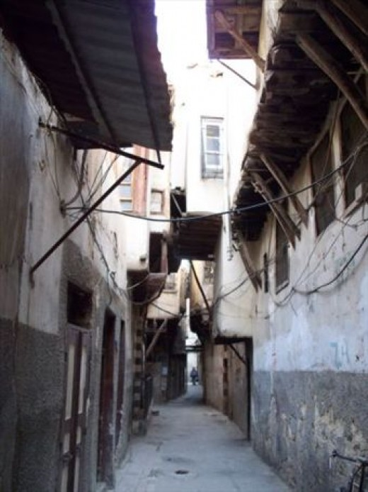 The narrow, labyrinthine streets of Old City