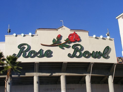 Entrance to the Rose Bowl. Attribution: Sparrowman980 at en.wikipedia