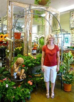 My pal Lisa inside of Martha's Bloomers