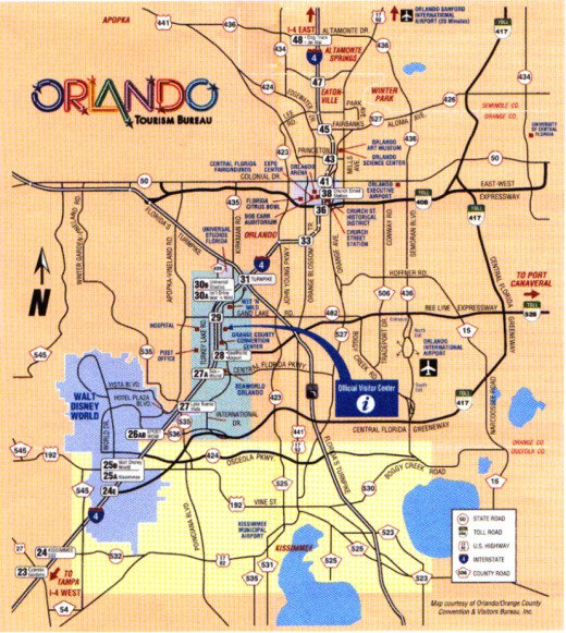Orlando attractions map