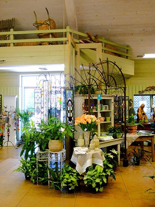 Interior of Martha's Bloomers in Navasota, TX