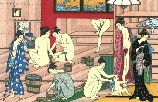 Women at a bath house