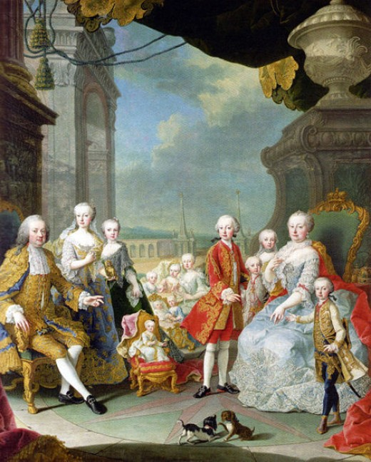 Marie Antionette had a happy childhood at the Hoffburg Palace in Vienna, Austria.