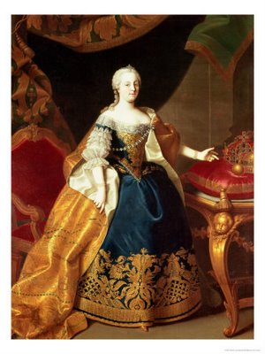 Marie Antionette's mother, Empress Maria Theresa, Queen of Austria and Hungary.