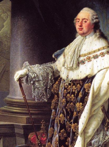 An unflattering portrait of Louie XVI.