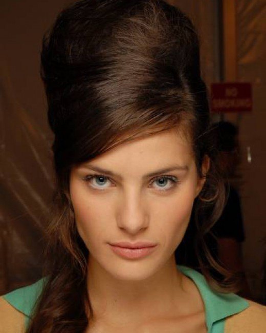 back combed retro haircuts for