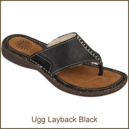 The Ugg Layback Sandal (Black)