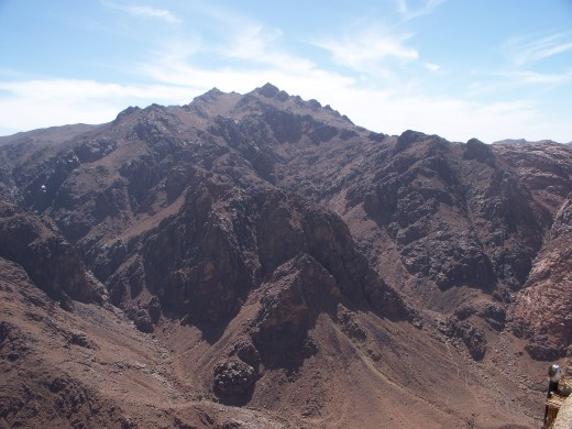 The rugged, dry peaks around Sinai