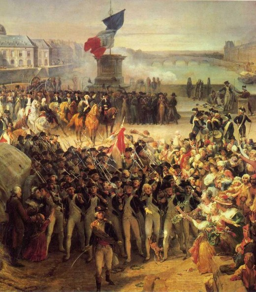 The people of France rose-up, initially, against unemployment and the high cost of bread.