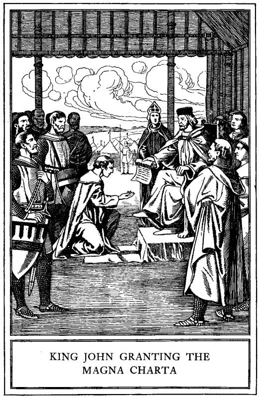 King John granting the Charter