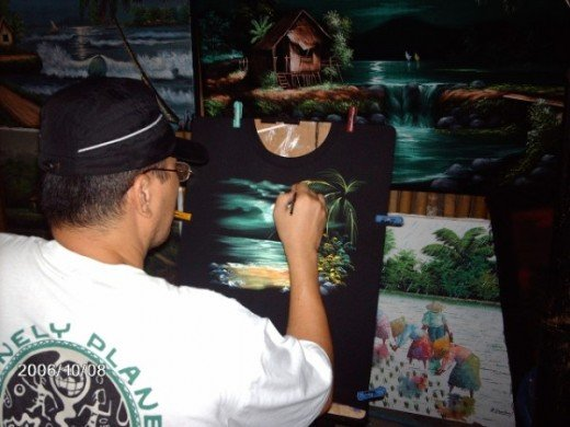 The Boracay artist as he captures the beauty for you to remember.