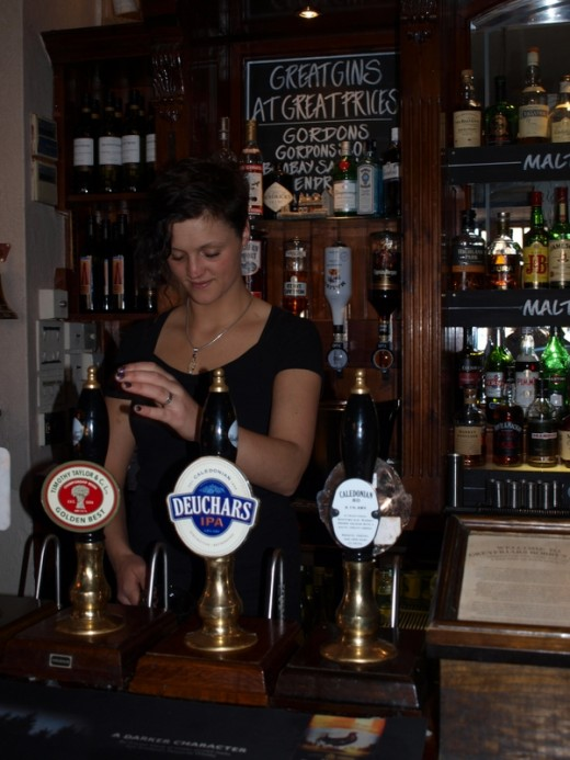The lovely lass who pulled our draft.