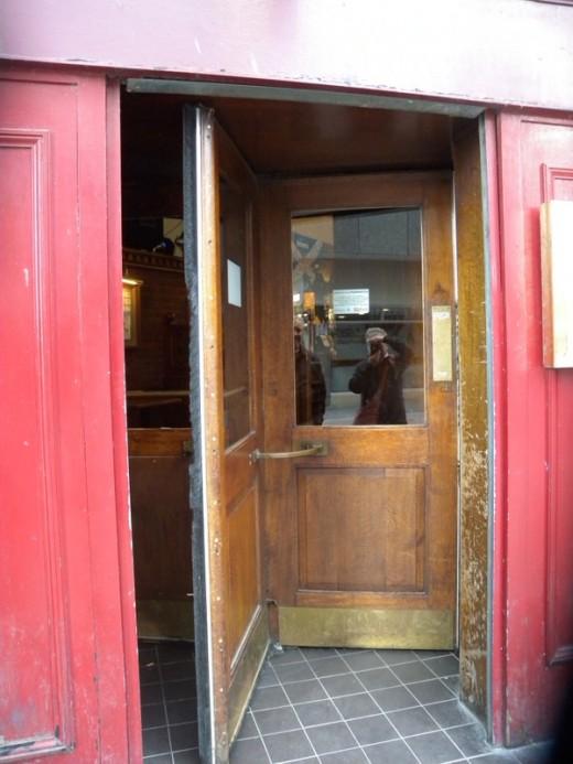 The door was incredible... a true circular antique revolving entry... so we entered