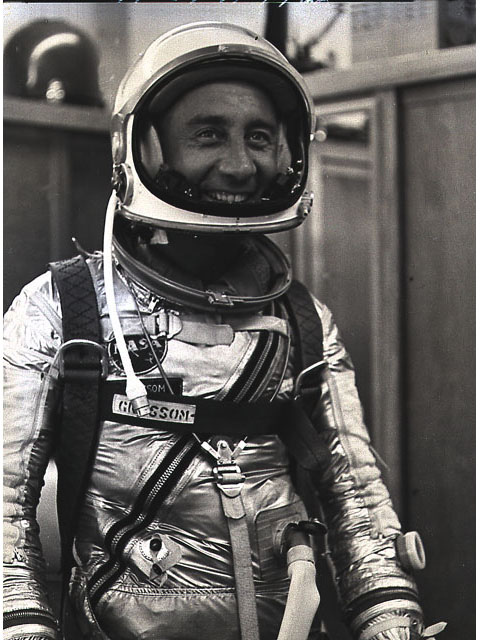 Mercury Astronaut Gus Grissom, suited up before launch. Photo courtesy of NASA.