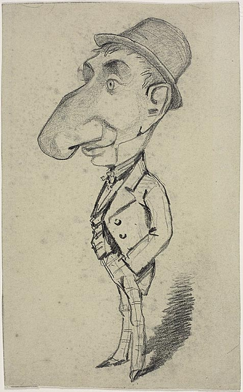CARICATURE OF A MAN WITH A BIG NOSE (1855-1856)