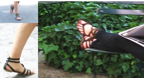 Ankle wrap sandals / Photos by E. A. Wright