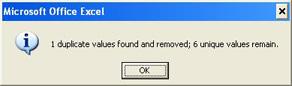 Remove Duplicates in Excel 2007