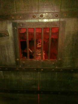 While in the cavern at hole 7, stop by an introduce yourself to the skeleton who lost his way in jail.