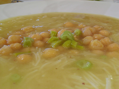Soup made with chickpeas Photo: jlastras @flickr