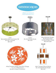 Fabric Light Fixtures