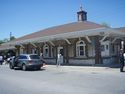 Montauk Branch of the local rail line. Photos on this page are in the public domain.