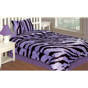 Purple and Black Bedding