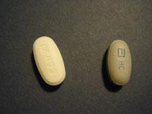 Divalproex ER 500 mg. (left), Depakote ER 500 mg. (right)