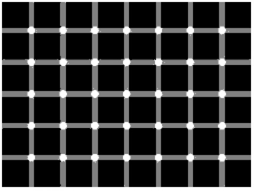 Illusion - counting the black dots