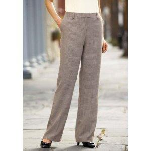 Women's Houndstooth Dress Pants
