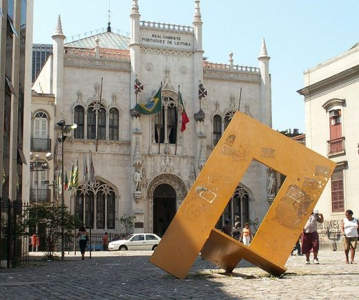 The Royal Portuguese Reading in the city center of Rio de Janeiro , Brazil neo-manueline