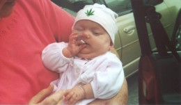 A Cigarette-smoking baby.  Do you like this thing to happen to all babies?