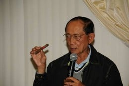82-year-old, cigar-chomping Former Philippine President FIDEL VALDEZ RAMOS advised Noynoy to quit smoking for the good of his health