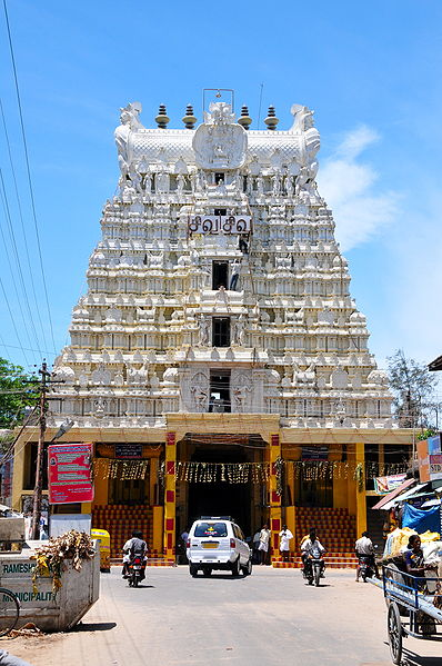 Gopuram (main door) of Rameshwaram Temple