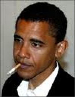US Pres. Obama with a cigarette