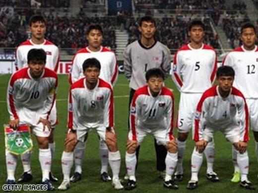 The also run and gritty North Korean football squad. Image from trendsupdates.com