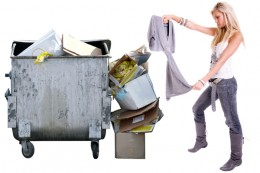 Some people like to dumpster dive for clothes. As many are fashion conscious, one can find plenty of near new clothes if you don't mind last seasons fashions. Wash what you find before wearing.