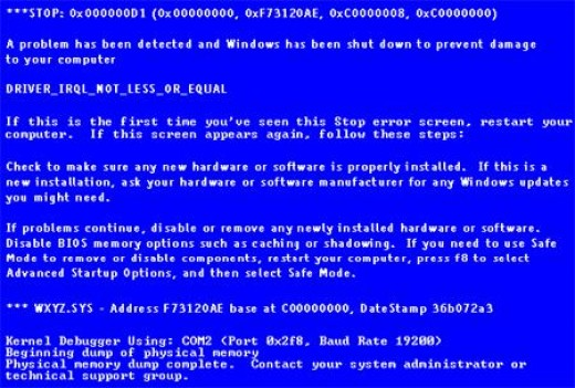 Blue Screen of Death Photo