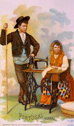 A depiction of a 19th century portuguese couple - in rural areas, nothing much has changed.