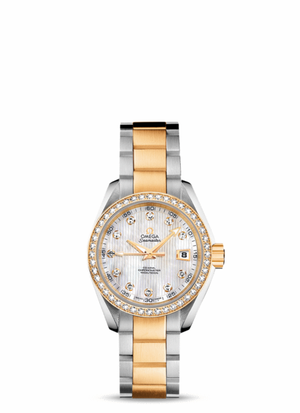 Omega Seamaster Ladies Gold, Diamonds, Mother-of-Pearl | Photo credit:  Omega